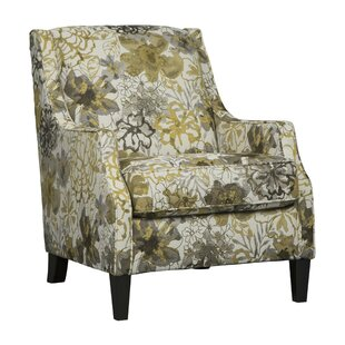 Emilienne Fabric Wooden Wingback Chair