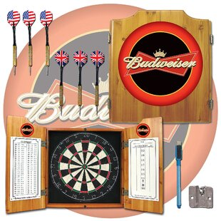 Budweiser Dart Cabinet by Trademark Global