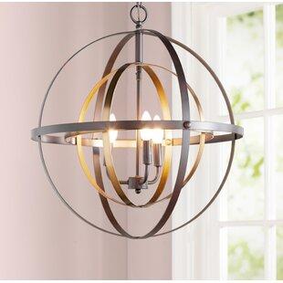 Reviews Alessa 3-Light Globe Chandelier By Willa Arlo Interiors