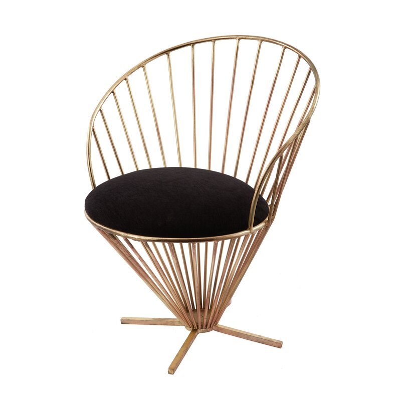 Risner Iron Taper Wire Papasan Chair
