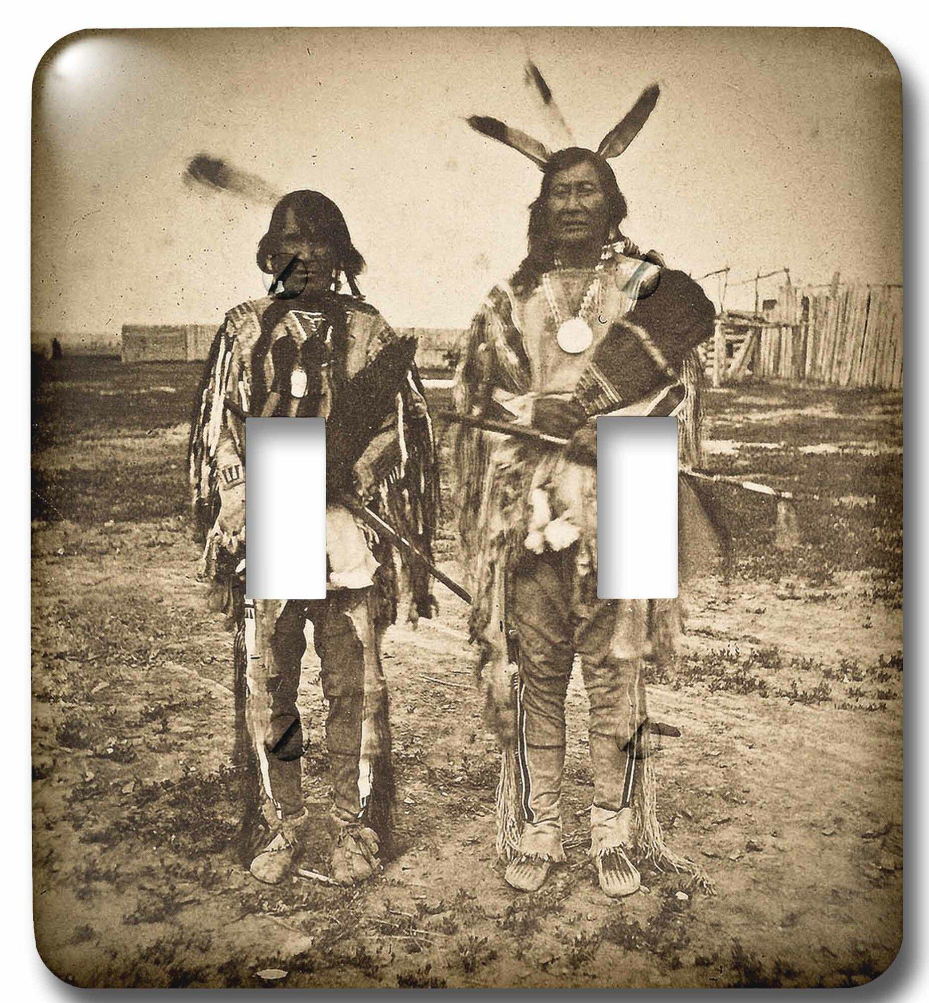 3drose Arikara Chiefs With Peace Pipes At Fort Berthold Dakota Territory 2 Gang Toggle Light Switch Wall Plate Wayfair