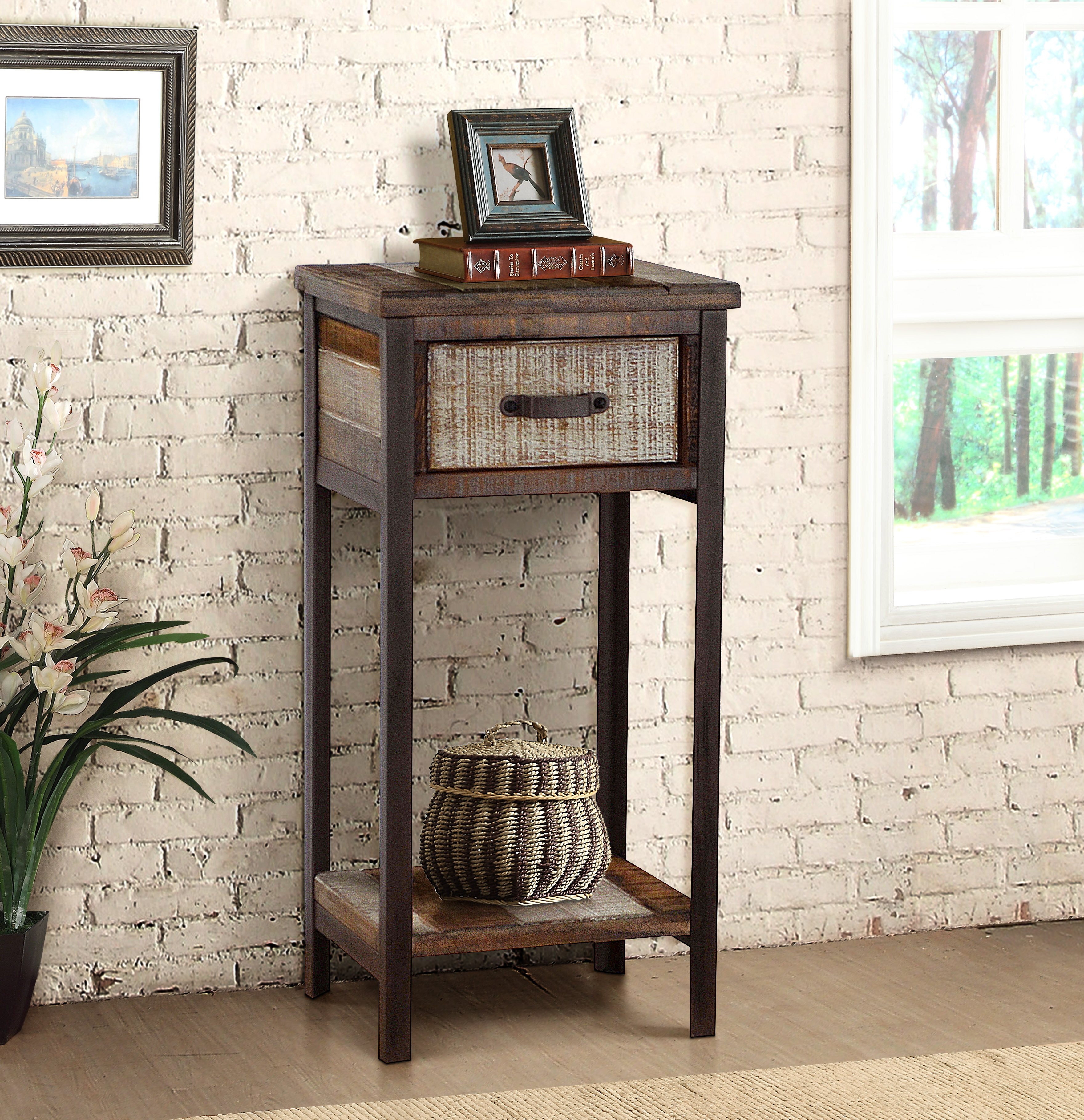 Trent Austin Design Clayera End Table With Storage Reviews Wayfair