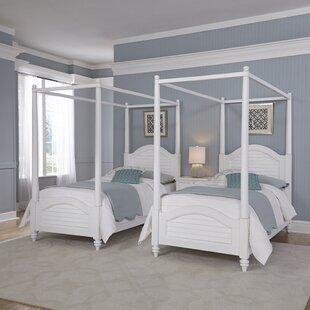 Harrison Traditional Framed Canopy 3 Piece Bedroom Set