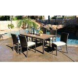 Cicero 7 Piece Dining Set with Cushions