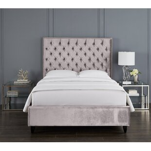 Newberry Crystal Upholstered Platform Bed by Rosdorf Park 2019 Sale