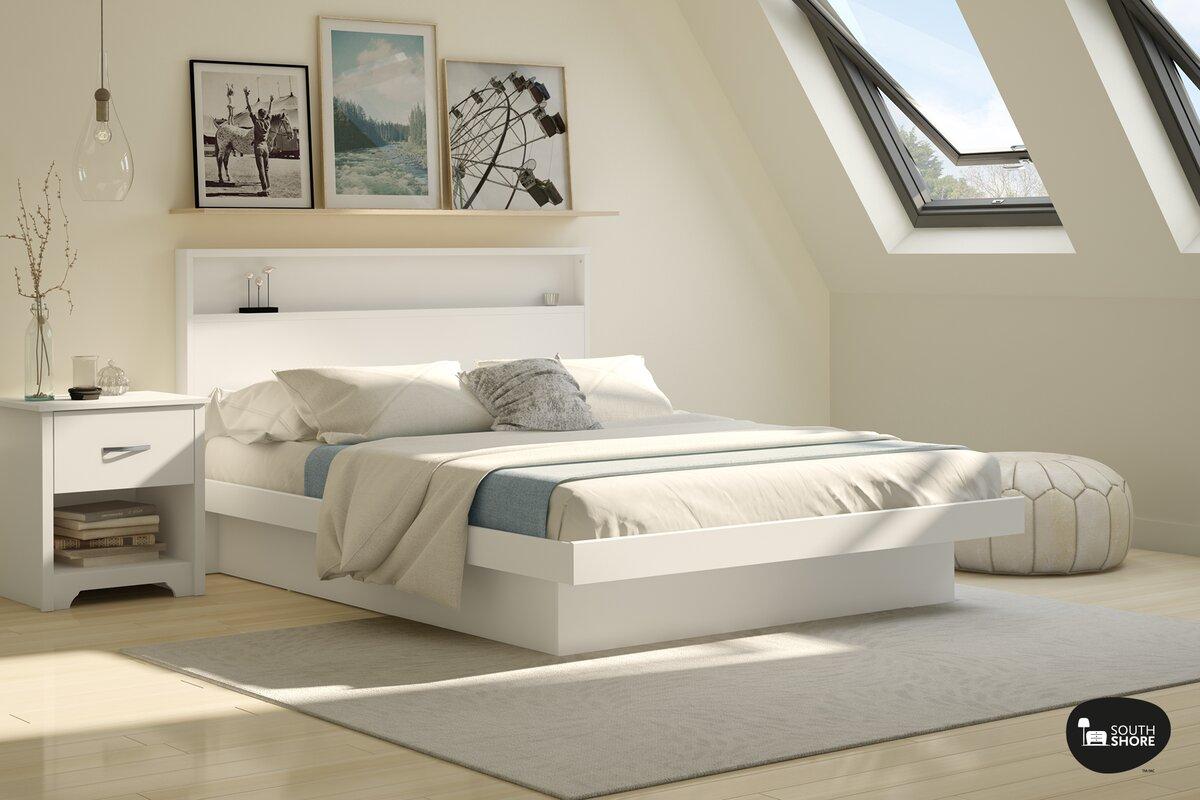Queen platform bed frame - Basic Queen Platform Bed