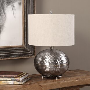 Burris Hammered Steel 22 Table Lamp