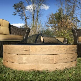 Outdoor Distinctions Acadia Concrete Wood Burning Fire Pit