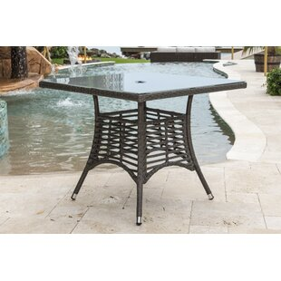 Graphite Glass Dining Table by Panama Jack Outdoor