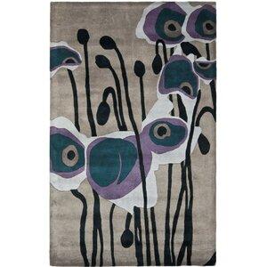 Freda Hand-Tufted Gray/Blue Area Rug