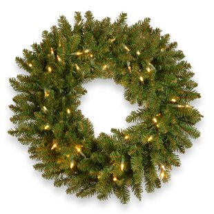 Kingswood Fir 30 Lighted Wreath