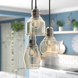 Pruett 3-Light Cluster Pendant by Gracie Oaks