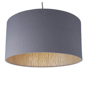 Ceiling lamp shades wayfair tribal zebra 40cm cotton drum pendant shade by first choice lighting aloadofball Choice Image