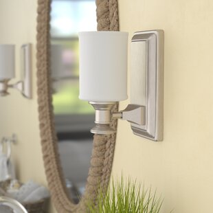 Beachcrest Home Bowers 1-Light Bath Sconce