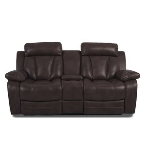 Heppner Reclining Brown Sofa by Red Barrel Studio