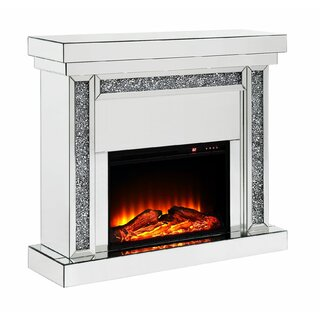 Ahrens Wood and Mirror Electric Fireplace by Everly Quinn SKU:EA221448 Purchase