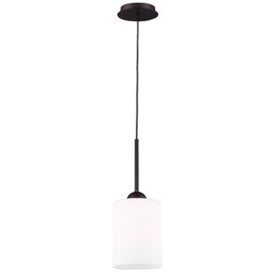 Cusack 1-Light Cylinder Pendant by Ebern Designs