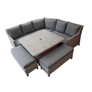 Hughley 8 Seater Rattan Corner Sofa Set Image