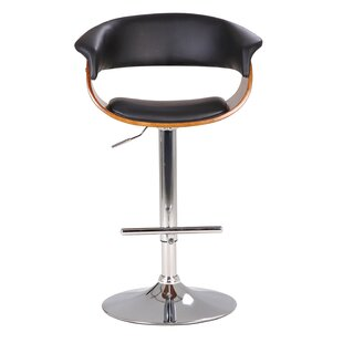 Orren Ellis Hamner Modern Adjustable Height Swivel Bar Stool