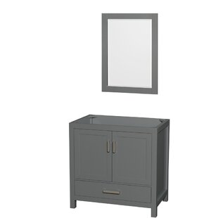 Sheffield 36 Single Bathroom Vanity Base with Mirror by Wyndham Collection