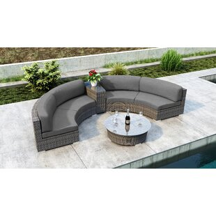 Gilleland 4 Piece Sectional Set with Sunbrella Cushion
