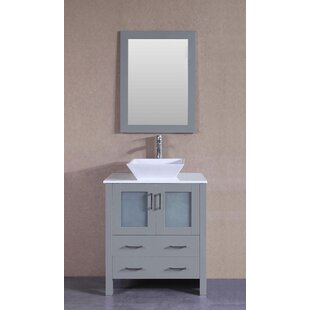Saltville 30 Single Bathroom Vanity Set with Mirror ByHighland Dunes