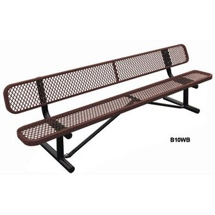 Leisure Craft Standard Expanded In Ground Metal Park Bench