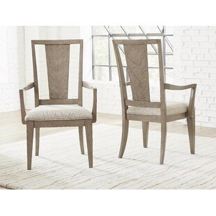 Whicker Upholstered Dining Chair (Set of 2) Ophelia & Co.