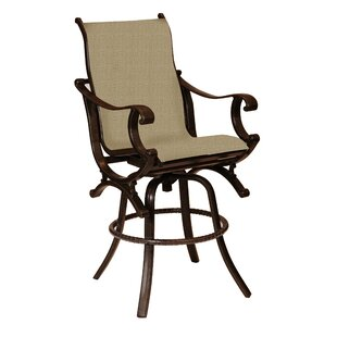 Leona Rialto Sling Swivel Patio Bar Stool