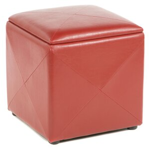 West Seattle Cube Ottoman by Red Barrel Studio
