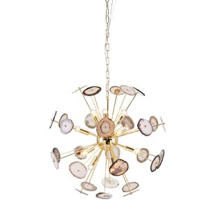 Nakasa Agate Stone 11-Light Sputnik Chandelier