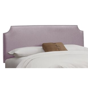 Doleman Nail Button Solid Wood Upholstered Panel Headboard