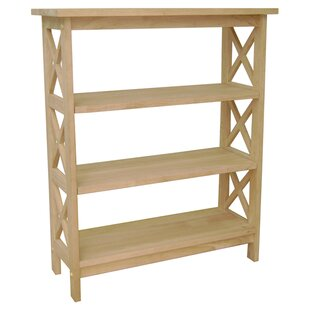 Affordable Unfinished Wood Etagere Bookcase by International Concepts