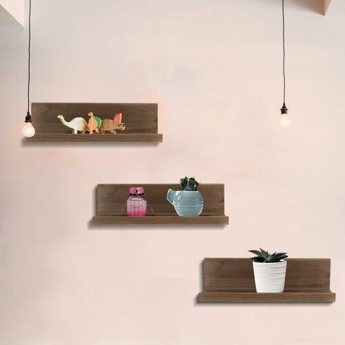 Rustic Wood Wall Shelves