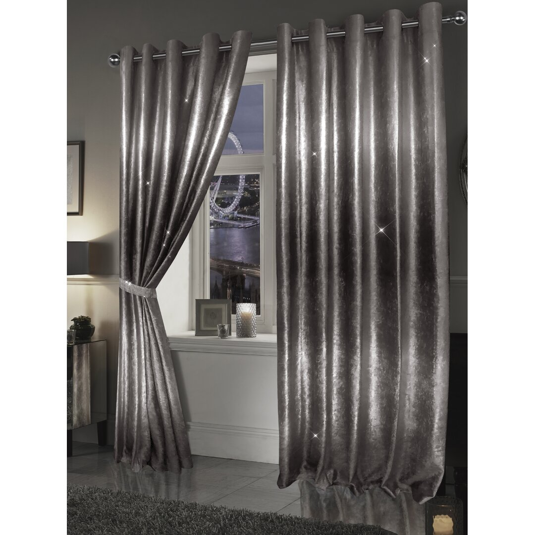 Rosas Ombre Sparkling Eyelet Blackout Thermal Curtain