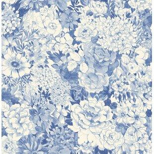 Navy Blue Floral Wallpaper Wayfair