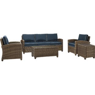 Dardel 5 Piece Sofa Seating Group with Cushions