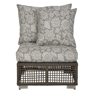 Mcmanis Outdoor Open Weave Rattan Patio Chair with Cushion