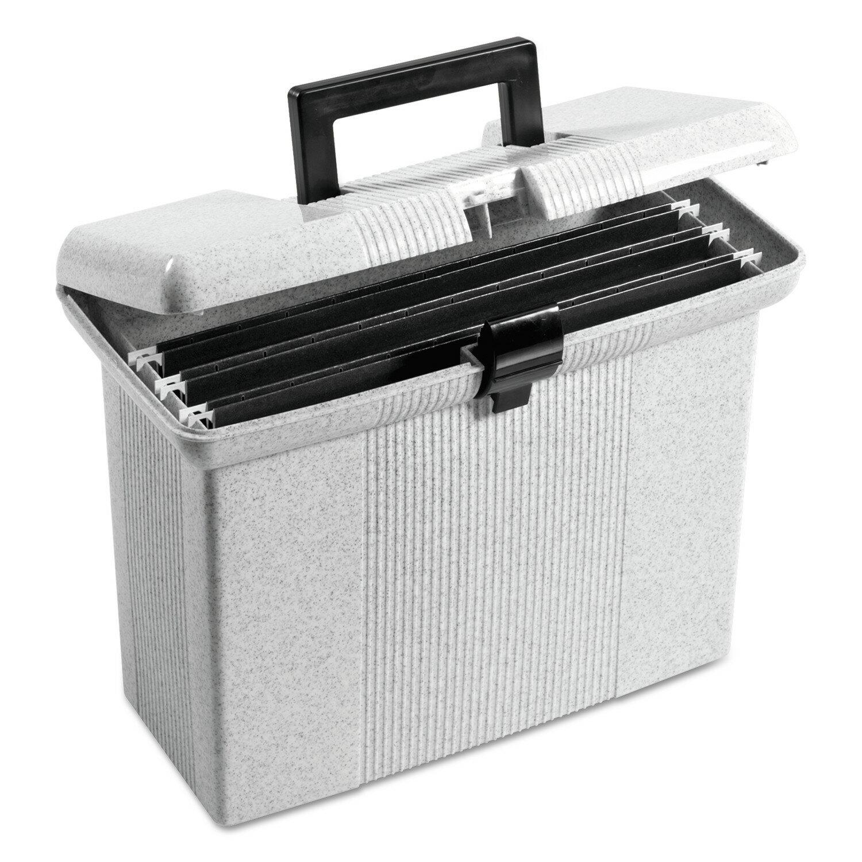 Portafile File Storage Box, Letter, Plastic, 14-7/8 X 6-1/2 X 11-7/8