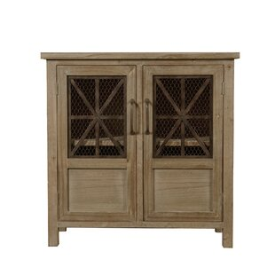 Tolland Wood and Metal 2 Door Accent Cabinet by Millwood Pines