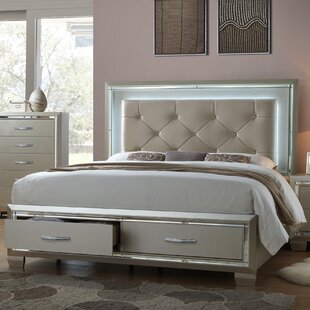 Rocky Upholstered Platform Bed by Harriet Bee