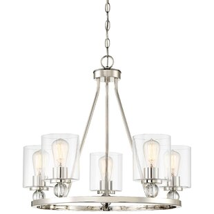 Brayden Studio Conard 5-Light Wagon Wheel Chandelier