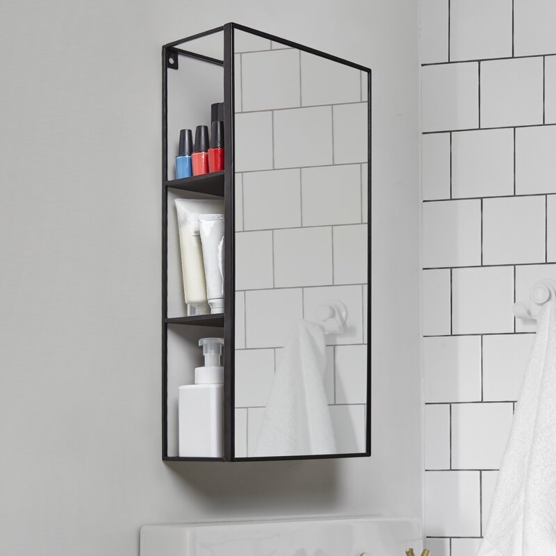 Amazing Bathroom Mirror With Shelf Decor