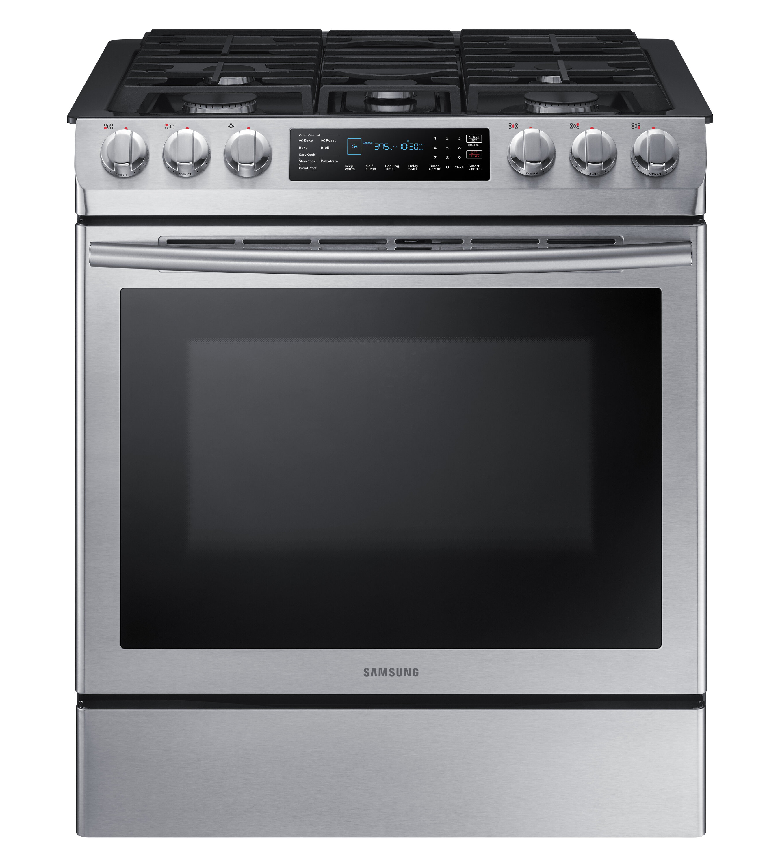 Samsung 30 5 8 Cu Ft Smart Slide In Gas Range With Convection