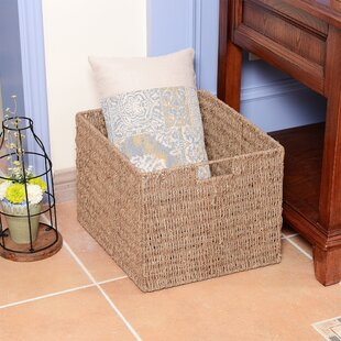 6693de1b2180 Handwoven Rectangle 2 Piece Wicker Basket Set
