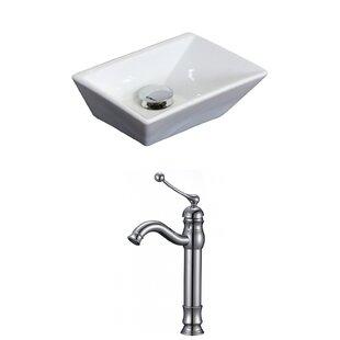 Reviews Emily Ceramic Rectangular Vessel Bathroom Sink with Faucet ByRoyal Purple Bath Kitchen