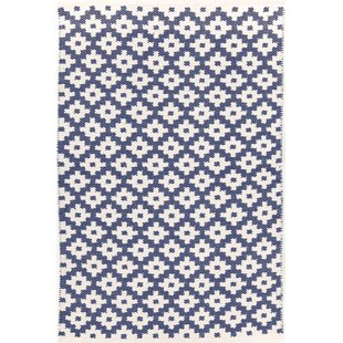 Price Check Samode Hand-Woven Blue/White Indoor/Outdoor Area Rug ByDash and Albert Rugs