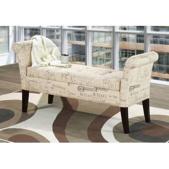One Allium Way Araceli Upholstered Storage Bench Wayfair