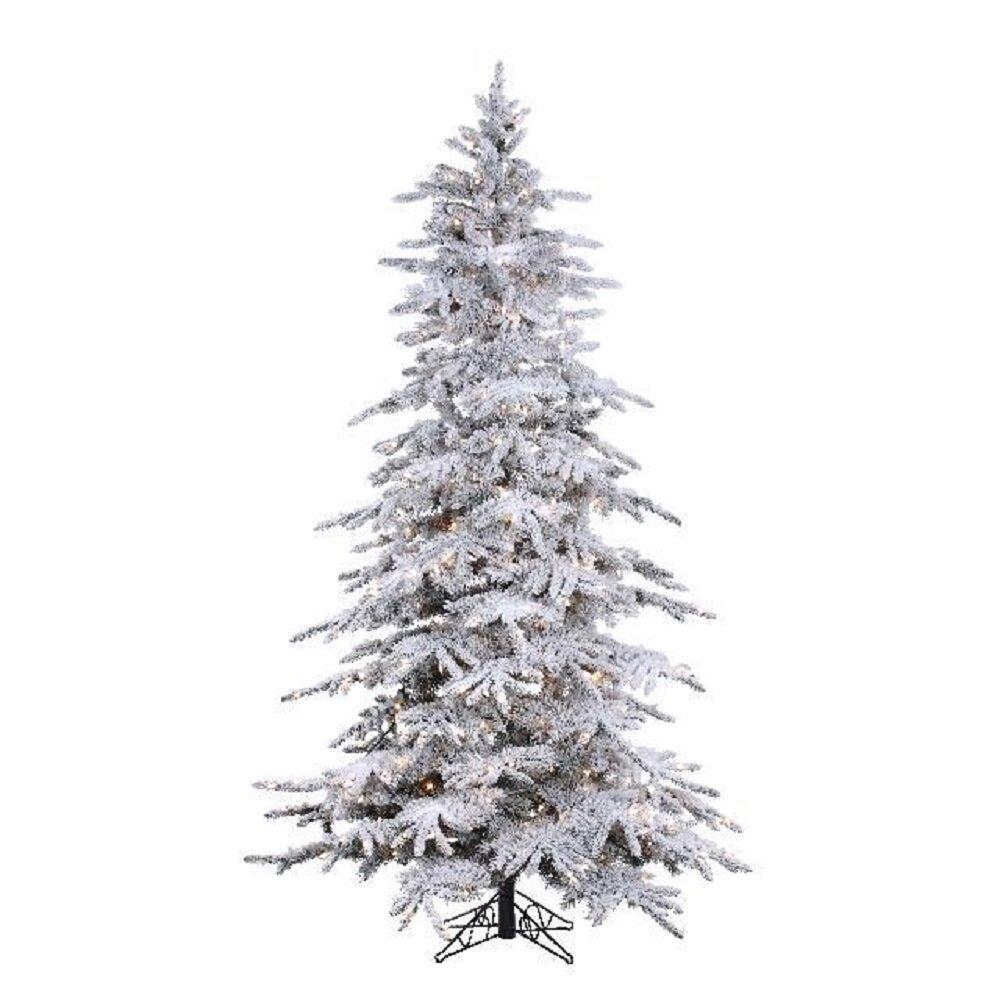The Holiday Aisle Balsam Prelit Flocked White Pine Artificial Christmas Tree Reviews Wayfair Ca