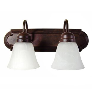 Best Price Hadfield 2-Light Vanity Light By Charlton Home